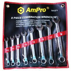 Набор ключей комбинированных (10-19мм) 8 предметов AmPro T41271 (Тайвань)