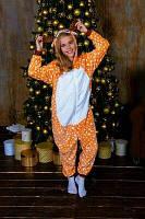 Детская пижама кигуруми олененок Бэмби пятнистый kig0099