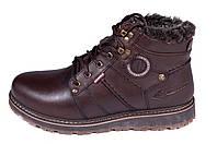Мужские кожаные зимние ботинки Kristan City Traffic Brown