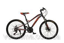 "Велосипед Oskar 24""FLAME сірий алюмінієва рама"