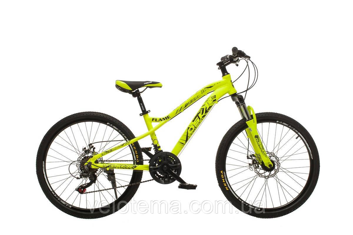 """Велосипед Oskar 24""""FLAME желтый подростковый"""