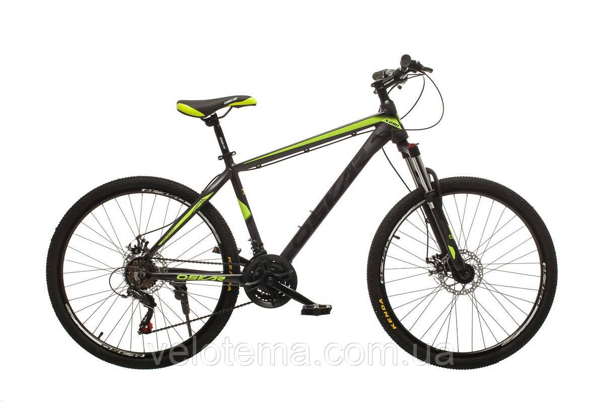 Велосипед Oskar M-124 сіро жовтий