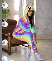 Пижама кигуруми радужный единорог для взрослых и детей kig0024, фото 1