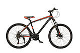 """Велосипед Oskar 29"""" JURA чорно-червоний, фото 2"""