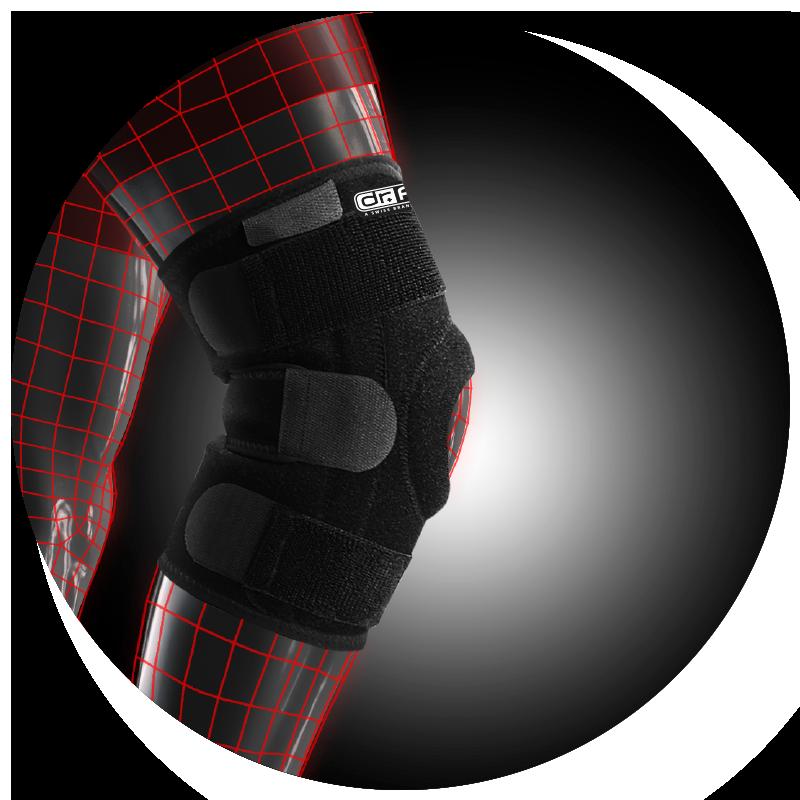 Бандаж для коленного сустава Dr.Frei с 4 спиральными ребрами жесткости (S6058)