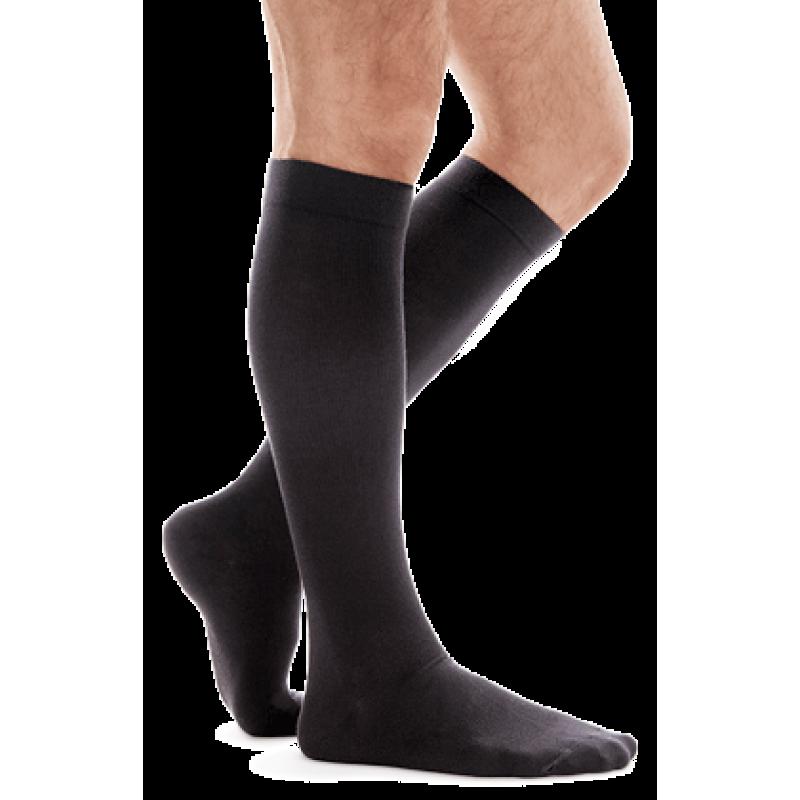Гольфы для мужчин и женщин unisex travel хлопчатобумажные с компрессией 18-21 мм ртст 140 ден, тип 955 черные