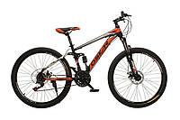 """Велосипед Oskar 26"""" S203 черно-красный"""