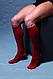 Компрессионные гольфы для повседневного ношения и путешествий в современных цветах  р.L цвет Красный, фото 7