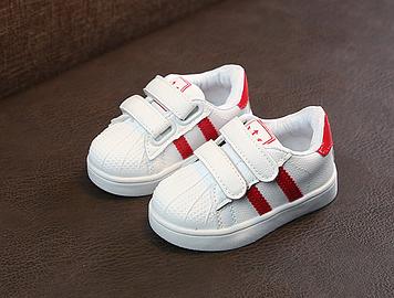 Білі дитячі кросівки Дитячі кросівки Дитячі кросівки з червоними смужками 29-18 см