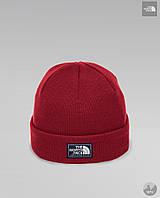 Шапка мужская зимняя теплая качественная красная The North Face, фото 1