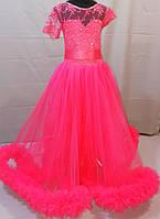 Ярко-алое платье для девочки 8, 9, 10 лет