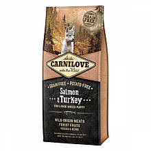 Корм для цуценят Carnilove Puppy Large Breed Salmon & Turkey 12кг