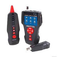 Тестер кабельный RJ-45, RJ-12, коаксиальный кабель, USB, POE, PING, генератор тона