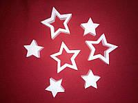 Звезда из пенопласта 10см. Заготовка для творчества. Декорация из пенопласта