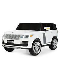 Детский двухместный электромобиль Land Rover M 4197 EBLR-1, белый