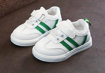 Білі дитячі кросівки•Дитячі кросівки 27р-15,5 см 30р-18см