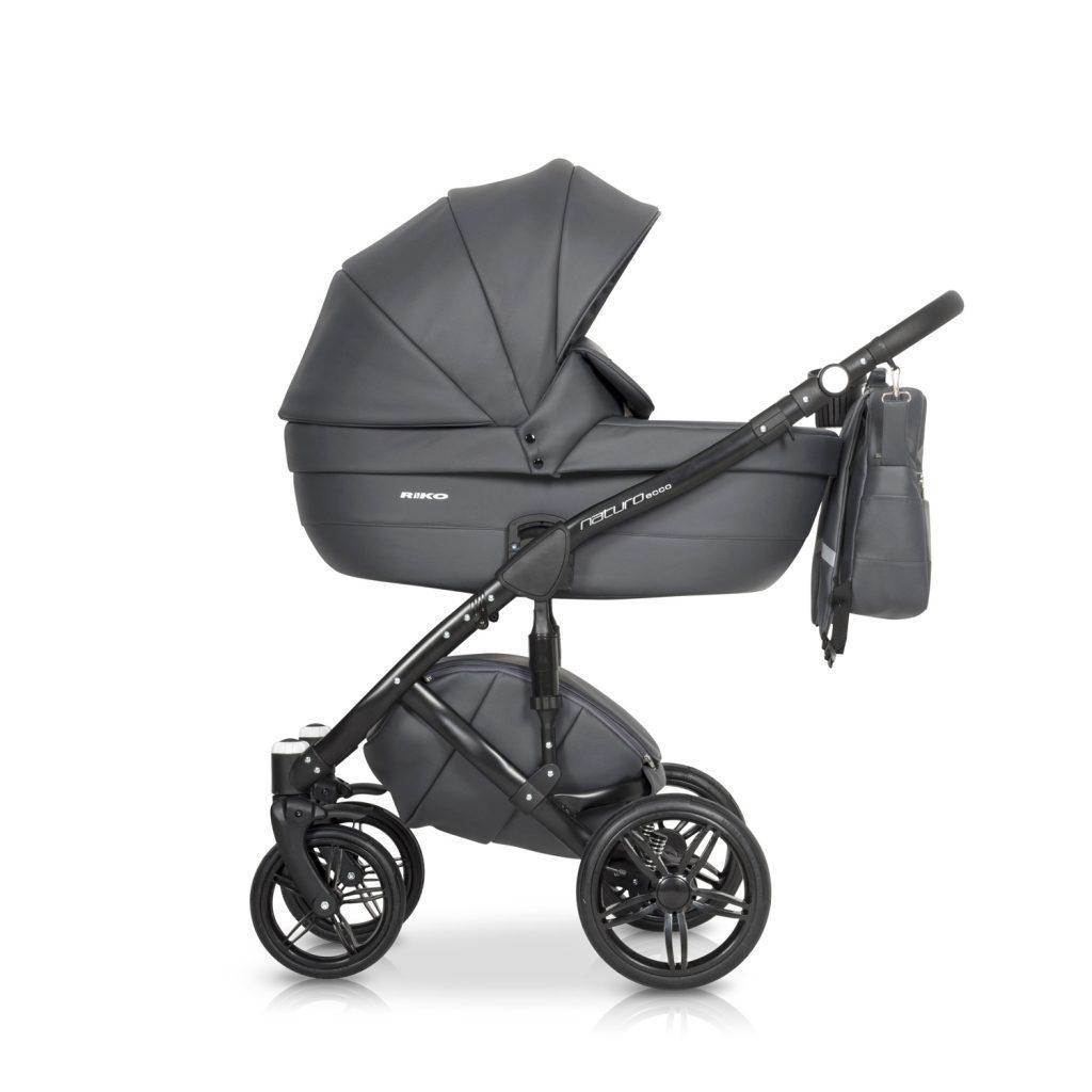 Детская универсальная коляска 3 в 1 Riko Naturo Ecco 04 Antracite