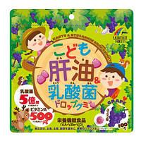 Витаминный комплекс с лактобактериями для детей со вкусом винограда. 100 шт. Япония, фото 1