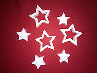 Звезда из пенопласта 15см. Заготовка для творчества. Декорация из пенопласта