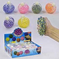 Игрушка -антистресс Мозги, 6 цветов, диаметр 6см, цена за 12 штук в блоке - 182941