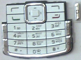 Клавиатура Nokia N72 white orig