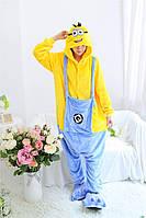 Пижама кигуруми Миньон для взрослых и детей kig0026