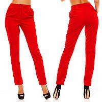 Женские классические красные брюки