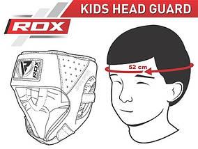 Боксерский шлем детский RDX Red, фото 3