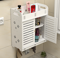 Навесной шкафчик для ванной комнаты. Ящик для косметики, украшение и пр. мелочей