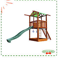 Игровая детская площадка Babyland-1 с песочницей и горкой