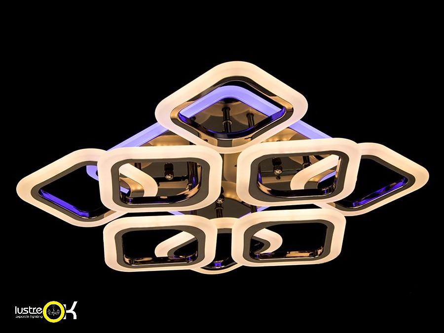 Люстра светодиодная потолочная  AS8060/4+4 BHR LED 3color dimmer