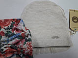 Шапка Кара с вуалью + хомут, подкладка флис, молочный, Dembo house, р. 50 54, фото 3