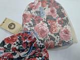 Шапка Кара с вуалью + хомут, подкладка флис, молочный, Dembo house, р. 50 54, фото 4