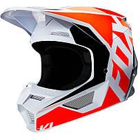 Мотошлем Fox V1 Prix оранжевый/белый, XS, фото 1