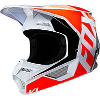Мотошлем Fox V1 Prix оранжевый/белый, XXL, фото 1