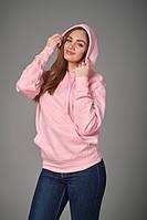 Женская толстовка с капюшоном JHK KANGAROO LADY цвет розовый (PK)