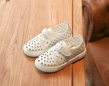 Дитячі Білі мокасини дитячі мокасини Дитячі туфлі для дівчинки Дитячі літні мокасини