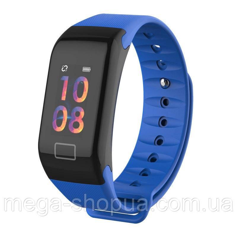 Фитнес браслет F1 Plus Blue. Большой цветной экран. Фитнес-браслет UWatch F1 Plus. Умные часы F1