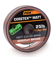 Поводочный материал Fox Edges Coretex Matt Gravelly Brown 20m 25.0 lb