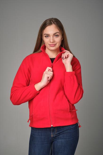Женская флисовая куртка JHK POLAR FLEECE LADY цвет красный (RD)
