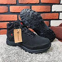 Зимние ботинки (на меху) мужские в стиле Columbia черные  [45 последний размер ]