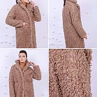 Стильная шубавыполненная из мягкого эко-меха на утеплителе (80), р.s m l, четыре цвета код 34040Ш