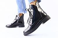 Женские ботинки деми черный наплак