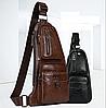 Кожаная сумка через плечо Jeep  777 Bag коричневая, фото 2