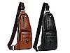 Кожаная сумка через плечо Jeep  777 Bag коричневая, фото 5