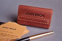 Визитница ручной работы, вмещает 40-50 визиток Обожженная глина, фото 1