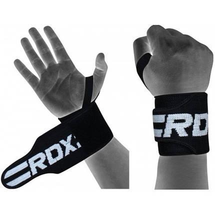 Кистевые бинты для жима RDX Black New, фото 2