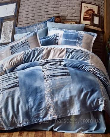 Комплект постільної білизни Majoli Satin Arcadia blue