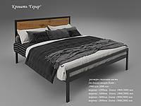 Двуспальная кровать Tenero Герар с изголовьем в стиле Лофт металлиическая на ножках