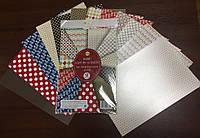 Набір картону та паперу для дизайнерських робіт, на 12 аркушів, 5шт/упак., Тетрада, ТЕ256